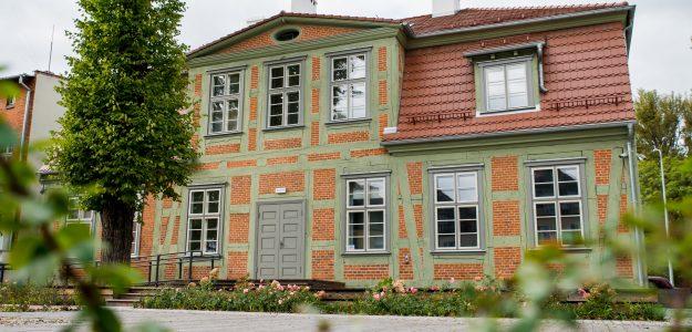 Dom Wiedemanna w Pruszczu Gdańskim. Widok od frontu.